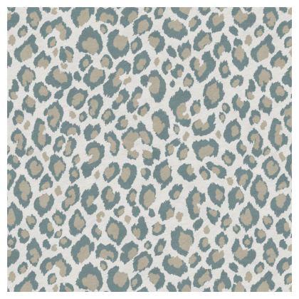 Luxury Cushion Leopard Beige Grey Duck Egg