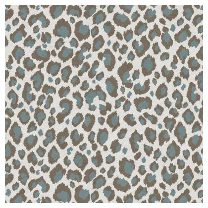 Luxury Cushion Leopard Taupe Grey Duck Egg