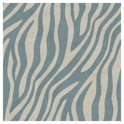 Luxury Cushion Zebra in Duck egg Grey