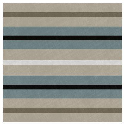 Luxury Cushion Stripes in Beige Duck Egg Black
