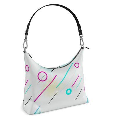 Square Hobo Bag- Emmeline Anne Cool Grooves