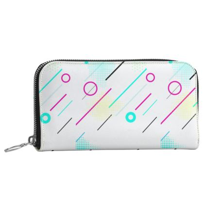 Leather Zip Purse- Emmeline Anne Cool Grooves