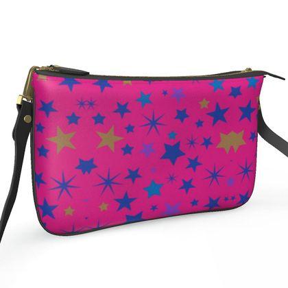 Pochette Double Zip Bag- Emmeline Anne Stars