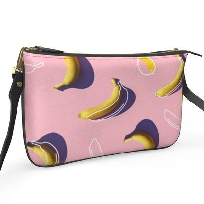 Pochette Double Zip Bag - Emmeline Anne Beach Bananas