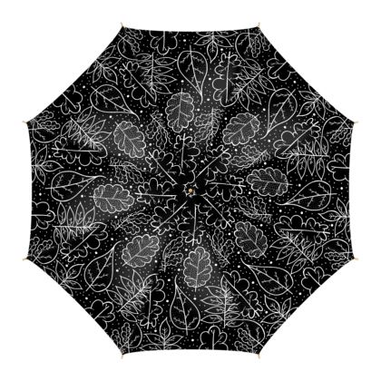 Umbrellas - Autumn (Black and white