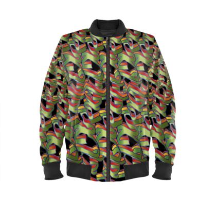 Artist-SG   Bomber jacket Design No 2 GREEN
