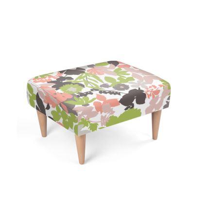 Footstool Pink green Foliage