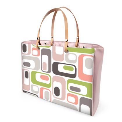 Handbag Retro Mod Pink Green