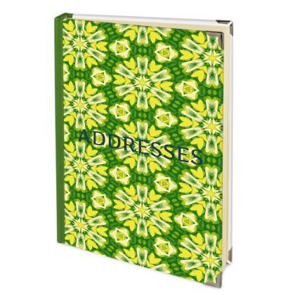 Yellow, Green Address Book   Geometric Florals   Dandelion