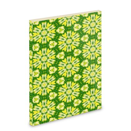 Yellow, Green Pocket Note Book [A6 shown]   Geometric Florals   Dandelion