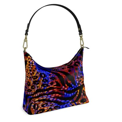 Square Hobo Bag -  Neon Party Nights