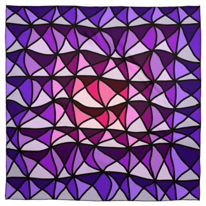 Scarf Wrap or Shaw in Geometric pink and purple