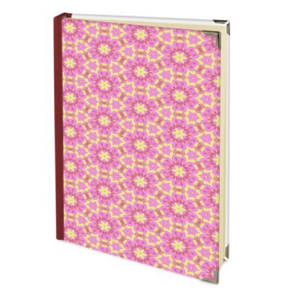 Violet, deep pink, yellow  Journals  Geometric Florals  Ring of Roses
