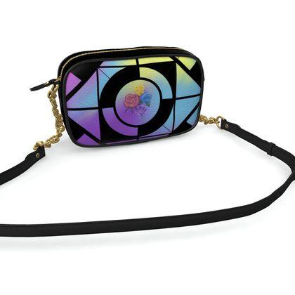 Camera Bag in Bright Geometric Pattern