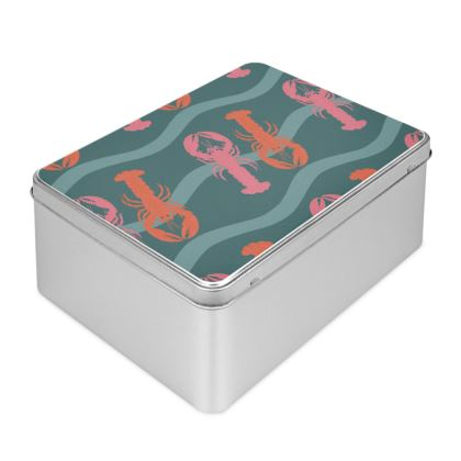 Lobster show Biscuit Tin