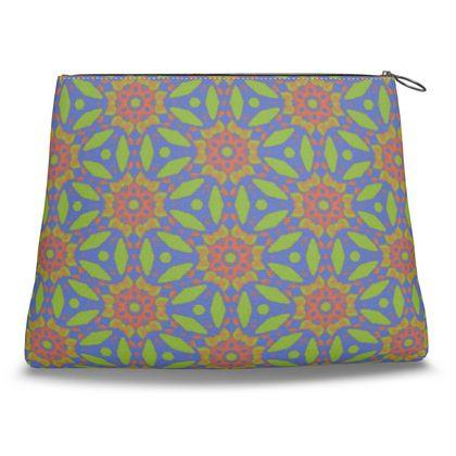 Green, Blue, Orange  Clutch Bag  Hipericum