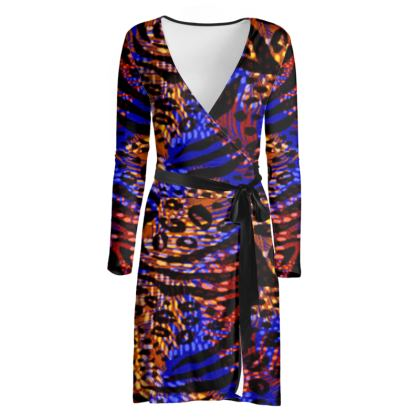 Wrap Dress - Neon Party Nights