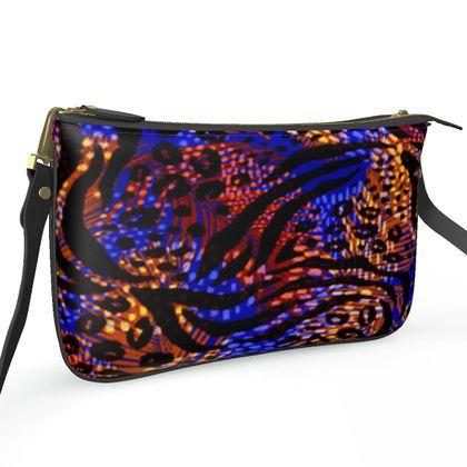 Pochette Double Zip Bag - Neon Party Nights