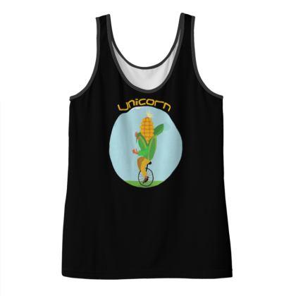 Ladies Vest Top - Unicorn