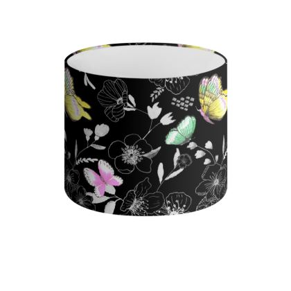 Butterfly Rhapsody Drum Lamp Shade