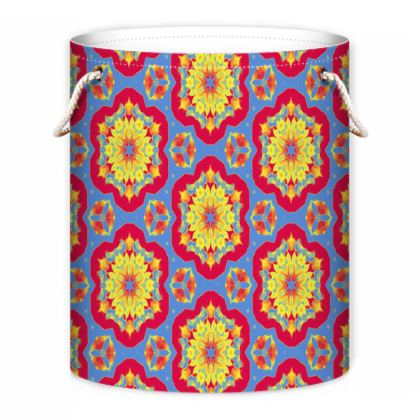 Red, Yellow, Blue Laundry Bag  Geometric Florals  Citadel