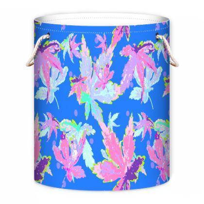 Blue, Pink Laundry Bag  Regal Leaves  Sailing