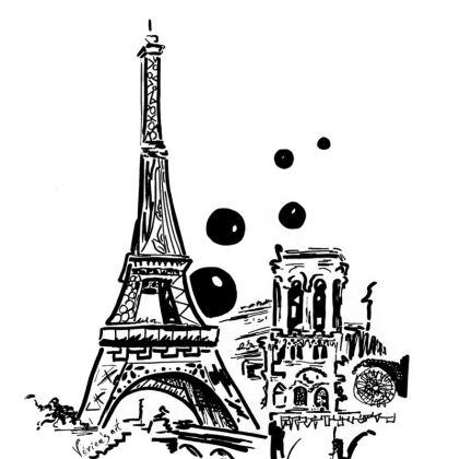 Paris pillow white