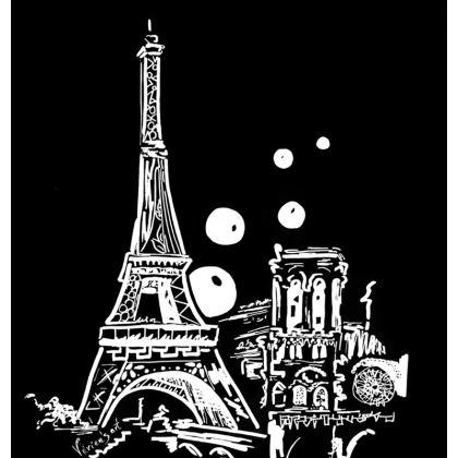 Paris pillow black