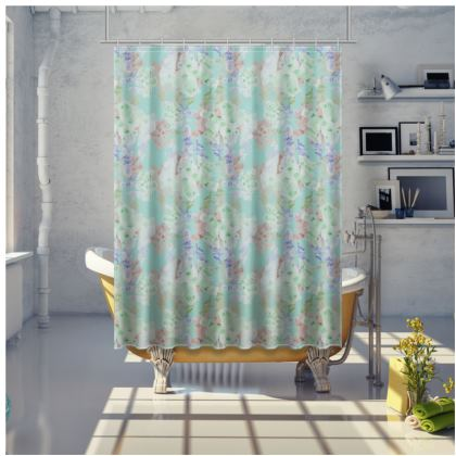 Turquoise Shower Curtain [price shown is for medium] Moonlight  Serenity