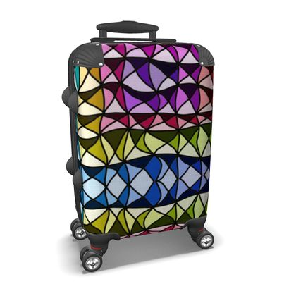 Suitcase in Colorful Geometric