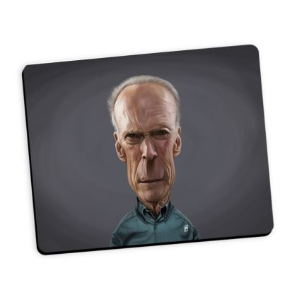 Clint Eastwood Celebrity Caricature Mouse Mat