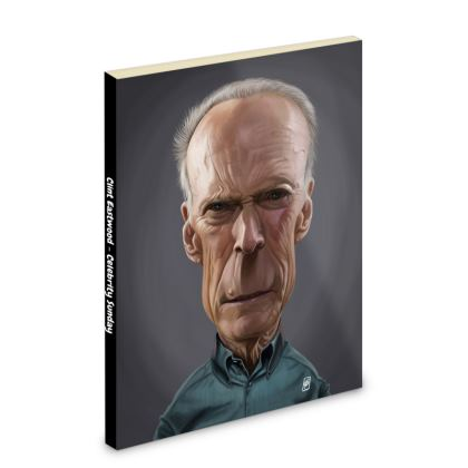 Clint Eastwood Celebrity Caricature Pocket Note Book