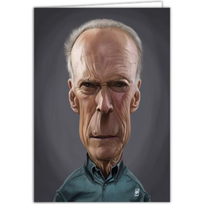 Clint Eastwood Celebrity Caricature Occasions Cards