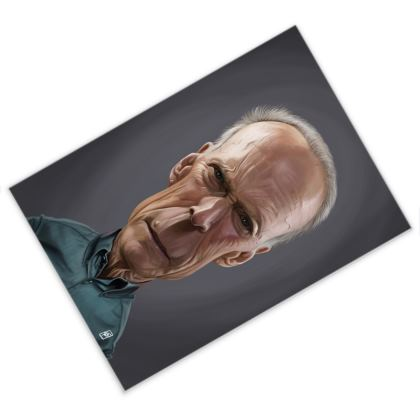 Clint Eastwood Celebrity Caricature Postcard