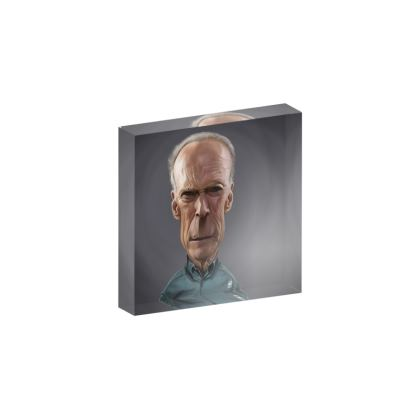 Clint Eastwood Celebrity Caricature Acrylic Photo Blocks