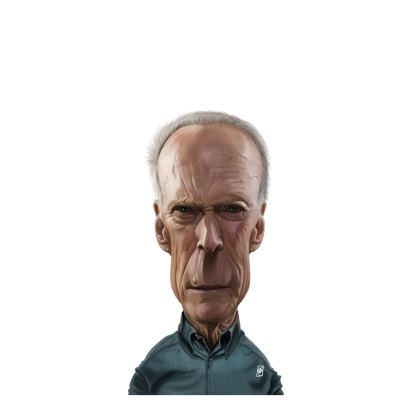 Clint Eastwood Celebrity Caricature Ladies Cut and Sew Vest