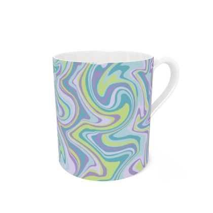 Marbled Psychedelic 70s Pattern Coffee Mug