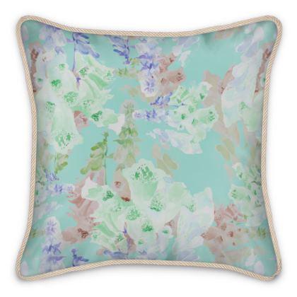 Teal Silk Cushions  Moonlight  Serenity