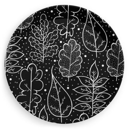 Party Plates - Pair 2 (Black and white)