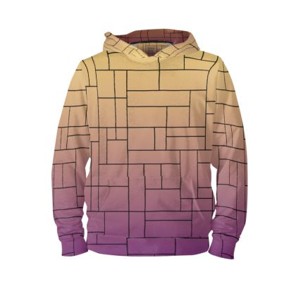 Back Print Stained Glass Gemini Constellation Print Hoodie