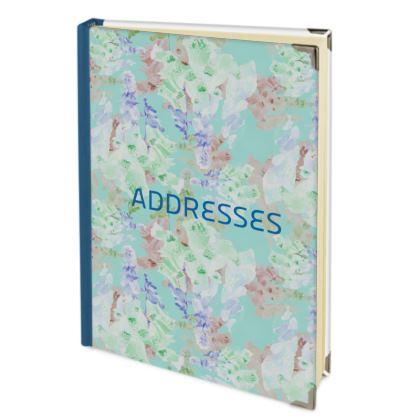 Teal Address Book  Moonlight  Serenity