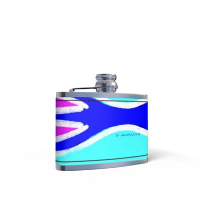 RIO ART LEATHER WRAPPED HIP FLASK