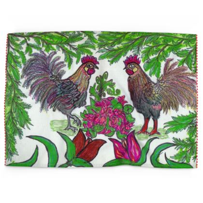 Tea Towel - 'Two Hens'