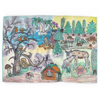 Tea Towel - 'Folklore'