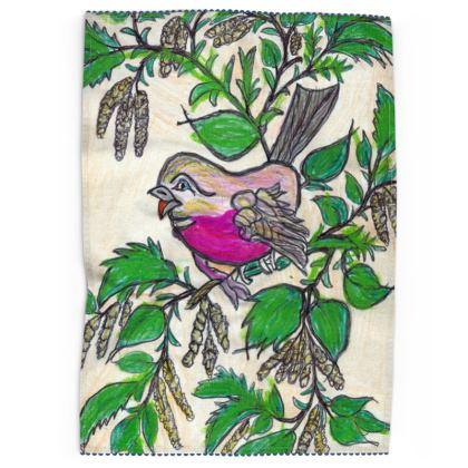 Tea Towel - 'Bird and Birch'