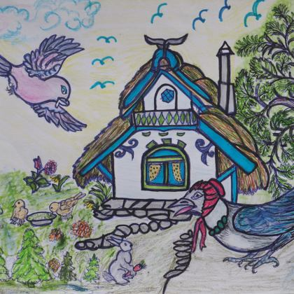4 Coasters - 'Folktale Designs'