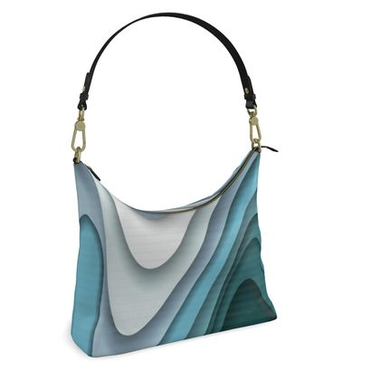 Square Hobo Bag -  Flowing Curves