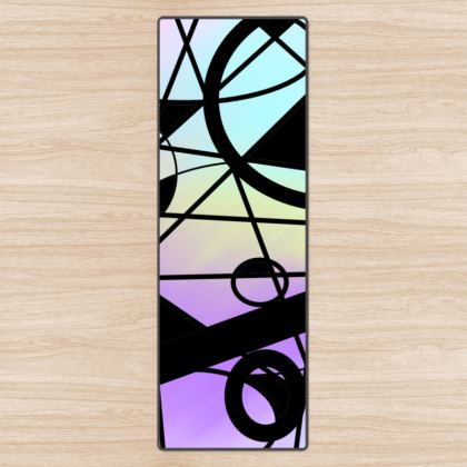 Yoga Mat in Pastel Abstract