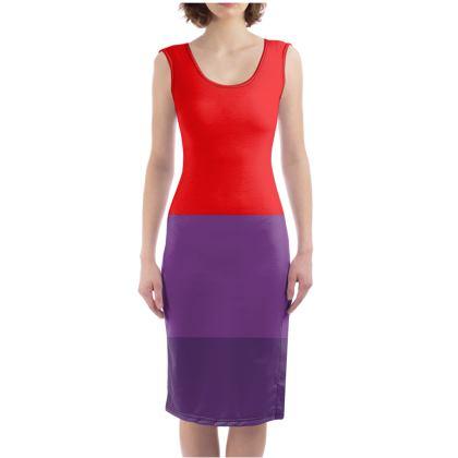 Elegante abito abito attilllato con stampa moderna