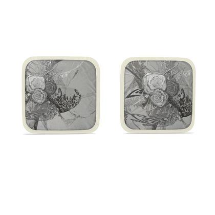 Hot Dish Pads - Grytlappar - 50 Shades of lace grey silver